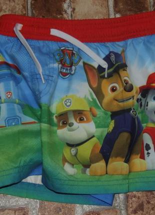 Новые пляжные шорты 4-5лет щенячий патруль