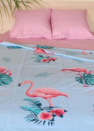 Постельное белье фламинго ранфорс