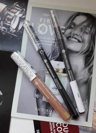 Набор новых карандашей для глаз yves rocher черный коричневый ...