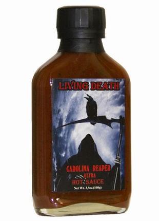"Острый соус ""Living Death"" Carolina Reaper 650,000 Scoville Units"