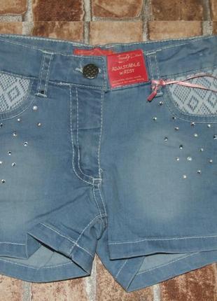 Шорты джинсовые новые стрейч 3-4 года