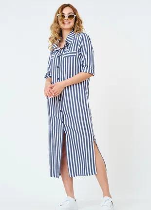 Летнее платье -рубашка