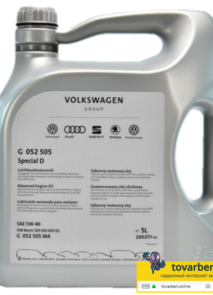 Моторное масло Volkswagen VAG Special D 5W-40 5