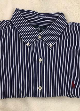 Мужская классическая рубашка полоска ralph lauren