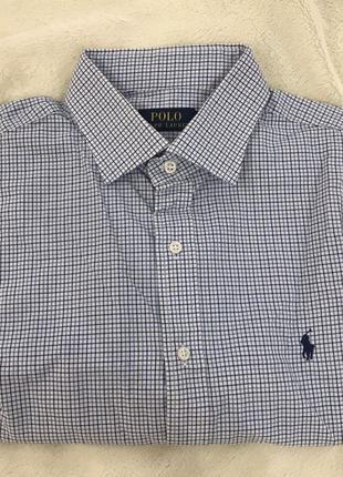 Мужская классическая рубашка клетка polo ralph lauren