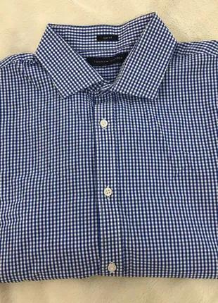 Мужская классическая рубашка клетка tommy hilfiger
