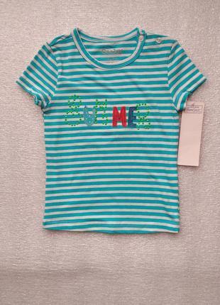 Полосатая футболка фирмы глория джинс