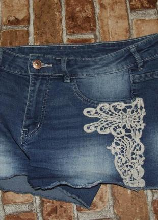 Шорты джинсовые стрейч 12-13 лет