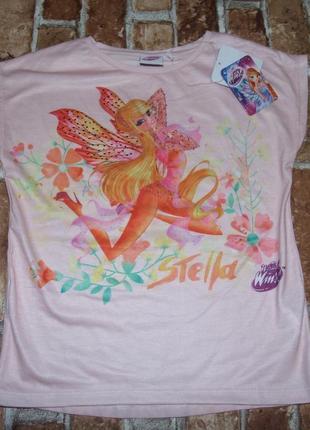Новая футболка  winx  7-8 лет
