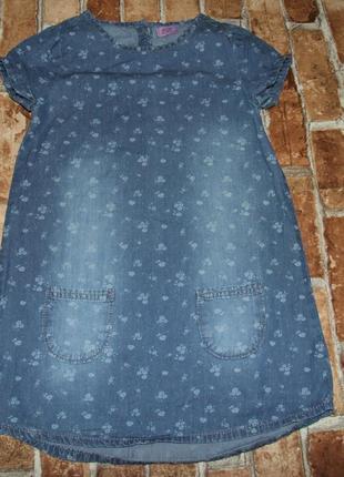 Джинсовое платье 6-7 лет