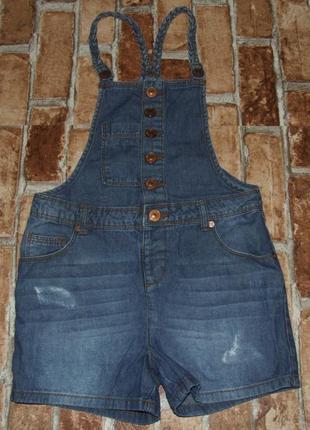 Ромпер летний джинсовый комбинезон  7-8 лет