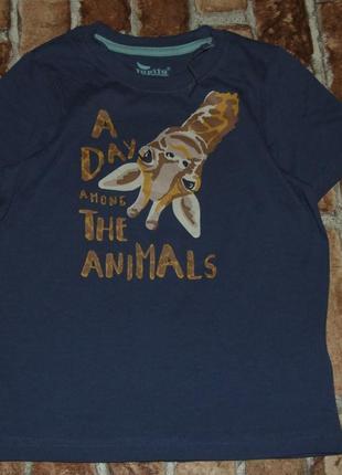 Новая хлопковая футболка 3-4 года