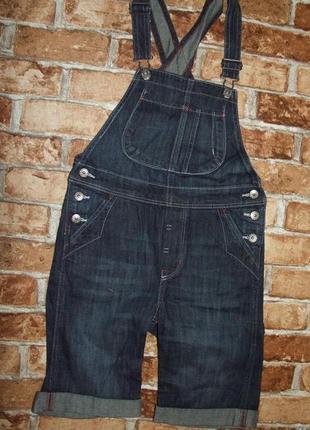 Летний комбинезон джинсовый 7-8 лет