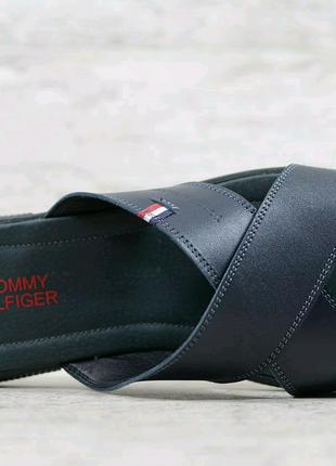 Кожаные шлёпанцы Tommy Hilfiger