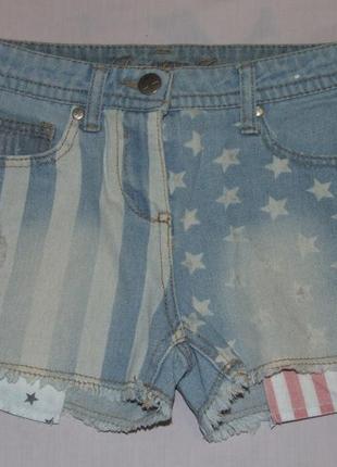 Модные шорты джинс 9-10 лет