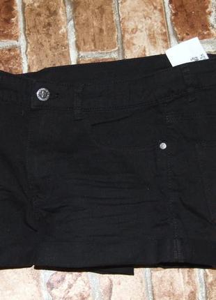 Новые джинсовые шорты h&m черные 11-12 лет