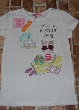 Хлопковая футболка 7-8 лет ovs