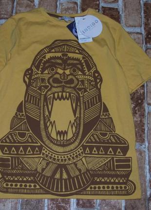 Новая хлопковая футболка 7-8 лет indigo