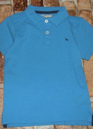 Хлопковая футболка поло 4-6 лет  h&m