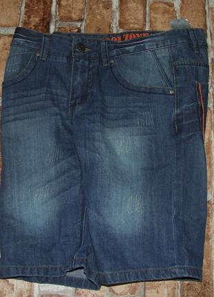 Новые джинсовые шорты бермуды 12-13 лет chapter young