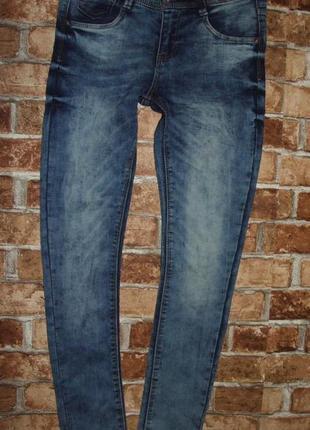 Новые стрейч джинсы узкачи 11-12 лет page young