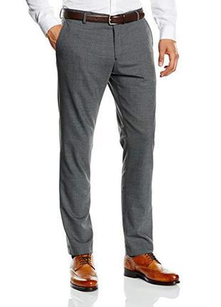 Selected homme мужские брюки классические серого цвета