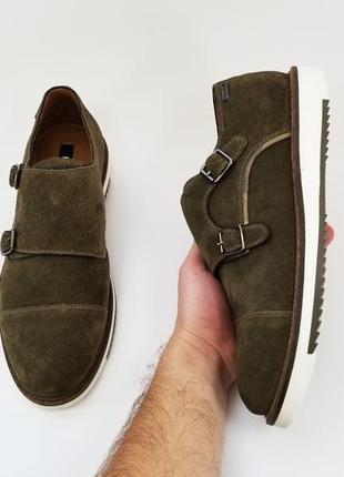 Mexx оригинал мужские монки туфли туфлі на весну замш зеленые ...