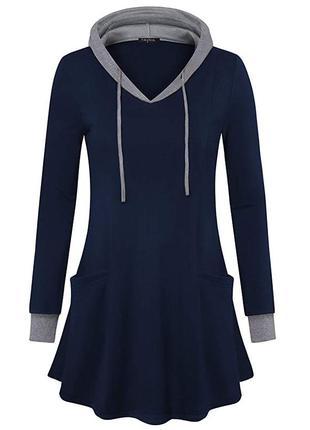 Платье (туника, худи) valolia, синее, новое