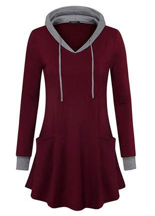 Платье (туника, худи) valolia, красное, новое