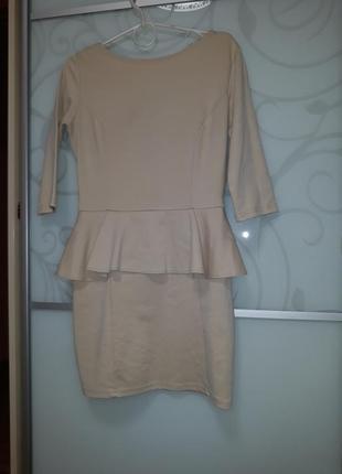 Короткое платье с баской р.м