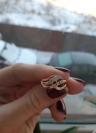 Золотое кольцо 17.5р, проба 585