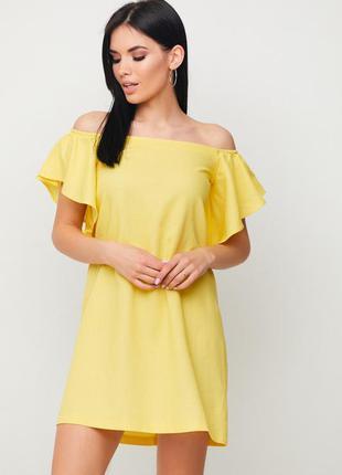 "Летнее легкое платье ""kair"" жёлтый"