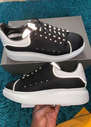 Шикарные женские кроссовки alexander mcqueen black reflective ...