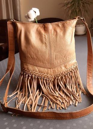 Кожаная сумка с бахромой dorothy perkins