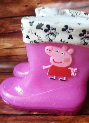 Резиновые сапоги свинка пеппа