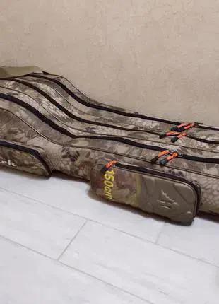 Чехол для спиннингов удилищ удочек с катушками 150 см Криптек