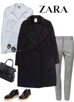Крутейшее шерстяное пальто - халат  от  zara trafaluc