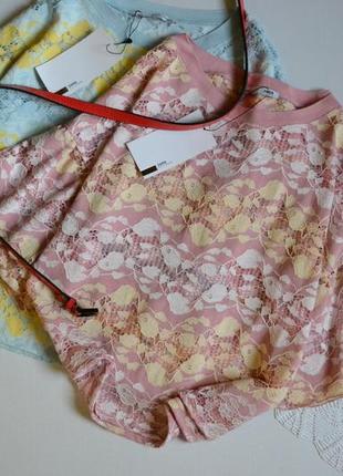 Zara блуза кружевна з воланами