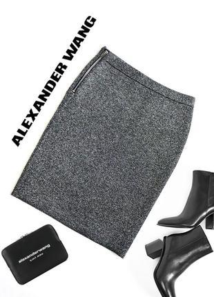 Серебряная бандажная юбка от alexander wang