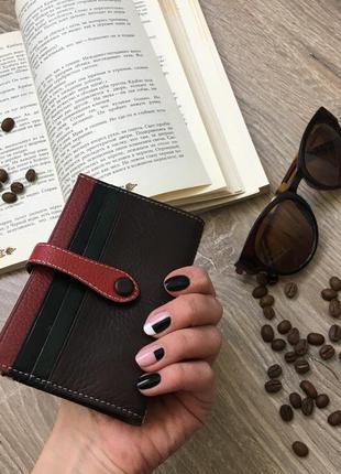 Кошелёк кошелек визитница мини кожаный