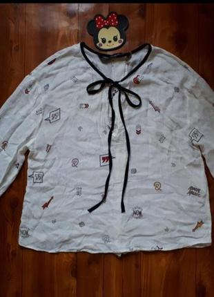 Белая блуза, рубашка zara