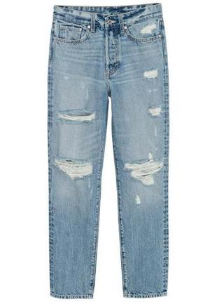 Крутейшие джинсы мом с рваностями, н&м, 26 р