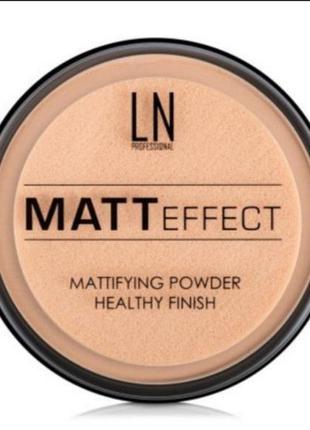 Ln professional matt effect пудра для лица