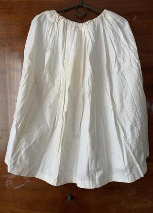 Белая пышная юбка