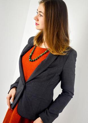 Next новый темно серый пиджак на 1 пуговица, приталенный блейзер