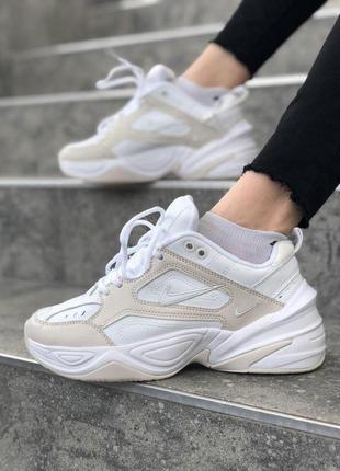 Шикарные женские кроссовки nike m2k techno в белом цвете (36-40)