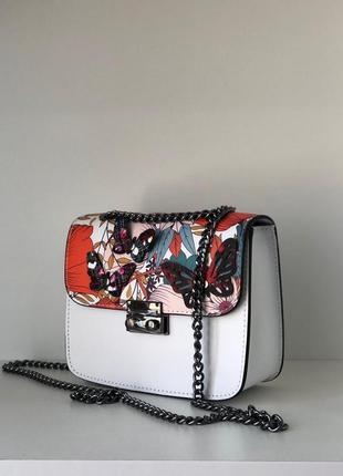 Кожа кожаная сумка на ручке цепочке cross-body сумочка трендов...