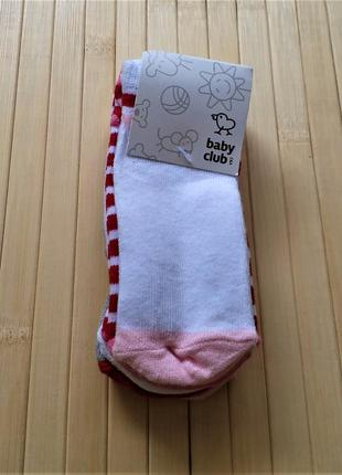 Комплект из 5ти носков на девочку 6-12 мес c&a