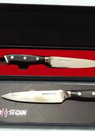 Ножи Премиум класса САМУРА Segun AUS-10 Япония. трехслойная сталь