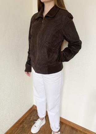 Куртка, натуральная замша, натуральна замша, коричневая, корич...